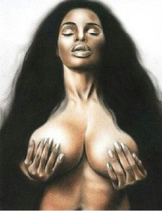 Naked african woman art pictores