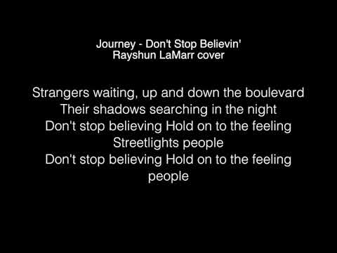 Don t stop believing lyric video