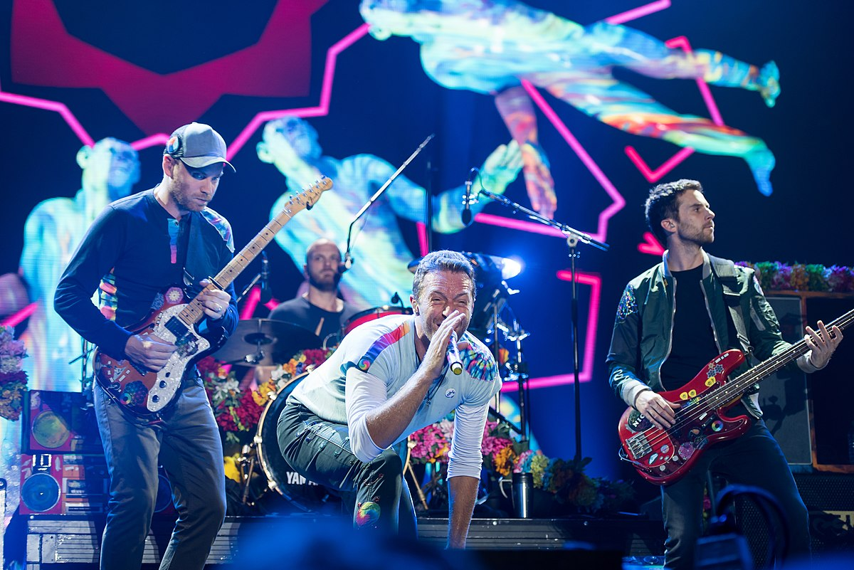 Coldplay most popular song list