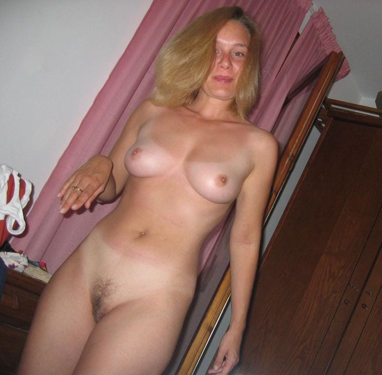 Hairy blond mature ex wife