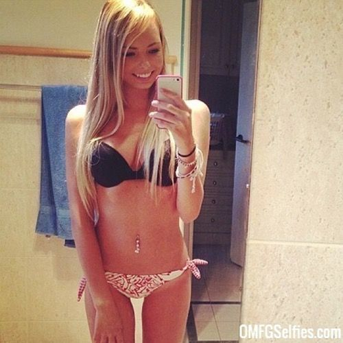 Sexy blonde college girl